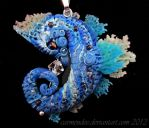 Azure seahorse by carmendee