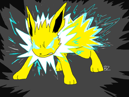 135 Jolteon by Jurassiczalar