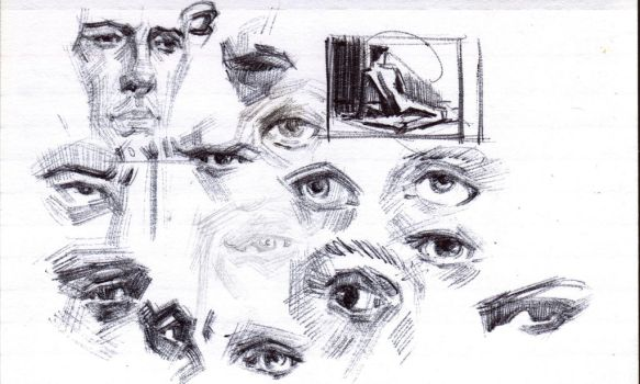 3 by 5 sketchbook page 22 by FUNKYMONKEY1945