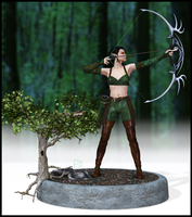 Jaesilie eq2 wood elf ranger by Faeini