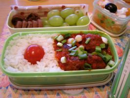 Beef Meatball Bento Box by hayleywarner