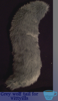 Grey Wolf Tail for Wittyills by caffeinatedcrafts