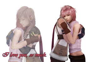 Nora and Lightning 'I love you, mom...' by Smirkaotic