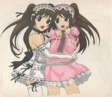 Anime twins by BlackUmbral