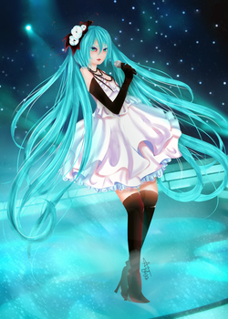 Miku Hatsune   Camellia, in Stage by Aya-DNA