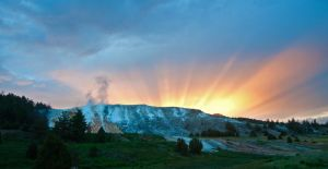 Yellowstone Sunset by dragon-fly-to-me