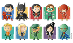 Justice League Minigeeks by Costalonga