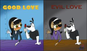 GOOD LOVE AND EVIL LOVE by DaveToons