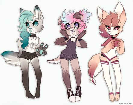 Adoptables Set 2 (CLOSED) by Snorechu