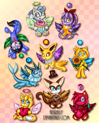 Chao Commission Batch 4 by Azurelly