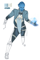 Asari Concept WIP 2 by Spi-ritual-ity