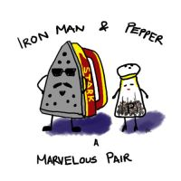 Iron Man and Pepper by Mizuki1113