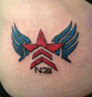 Mass Effect Tattoo by ElizabethTopsfield