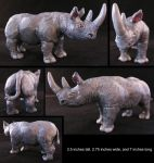 James the Rhino sculpture by meroe1313