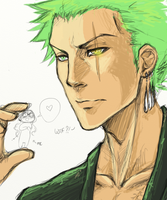 :WIP: Hawk eye Zoro by BreizhyGlaw