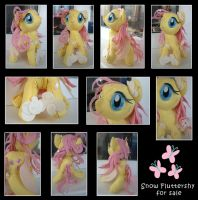 Snow Fluttershy (for sale) by Sanga--sempai