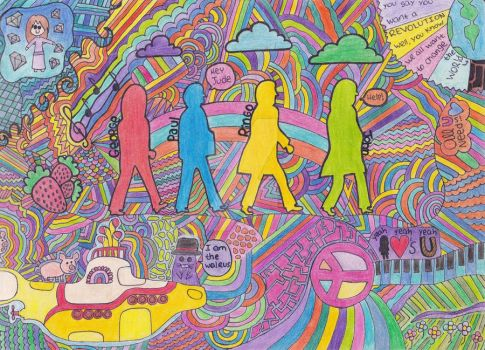 The Beatles Doodle c: by ProdigyApple