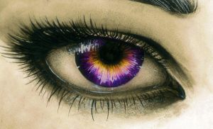 Amethyst and Gold Eye by MelissARTworks