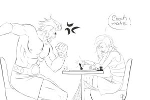 Checkmate Lineart by HuntraG94