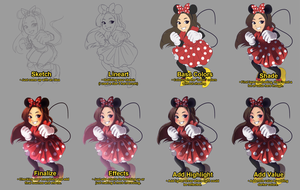 Minnie Michelle Process by mewDoubled