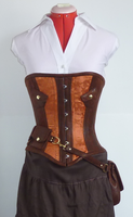 Utility corset front view by LillysWorkshop