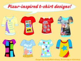 Pixar-inspired T-shirt designs by MU-Cheer-Girl