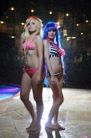 Panty and Stocking Anarchy Cosplay: Swimsuit Babes by Khainsaw