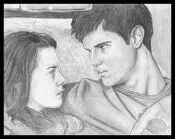 New Moon - Bella and Jacob by JLafleurArt