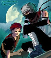 collab - kakashi wa gaara by bloody-widow