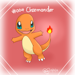 #004 Charmander by Bluekiss131