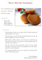 Salty butter caramels - recipe by Melhyria
