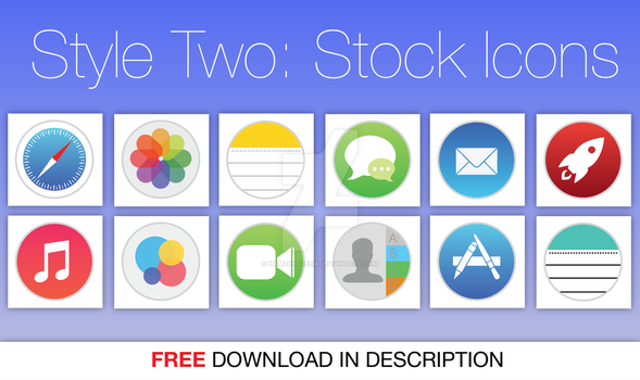 Stock Icons for Mac OS X iOS 7 Style 2 by hamzasaleem