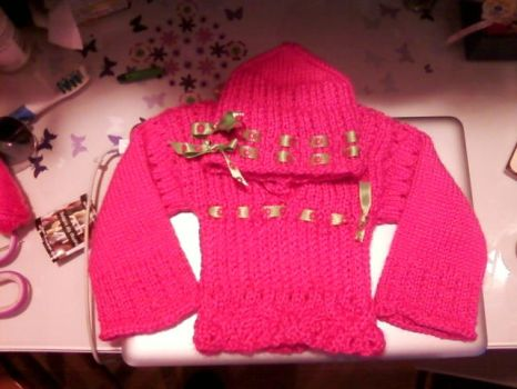 Carla's Blush Sweater and Cap by minishadowlove