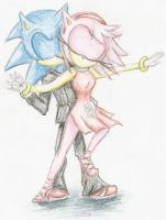 Sonamy. by EvaTheHedgehog