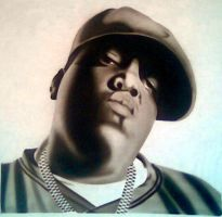 NOTORIOUS BIG AIRBRUSHED by javiercr69