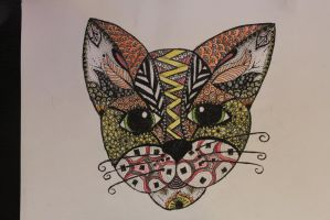 Zentangle cat by xMandy92x