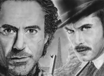 Robert Downey Jr. and Jude Law - Sherlock Holmes by deusexmachina-art