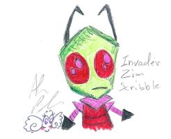 Invader Zim scribble by Kittychan2005