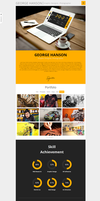 One Page CV Responsive Theme by sandracz