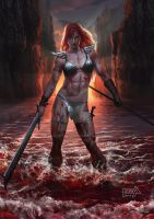 Red Sonja - Dawn Breaks by scarypet