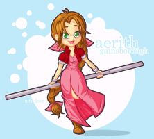 aerith gainsborough by cute-loot