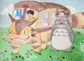My Neighbor Totoro Gang by lemon-stockings