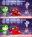 Pixar 2D Animation Style Comparison Inside Out II by PrincessKatieForever
