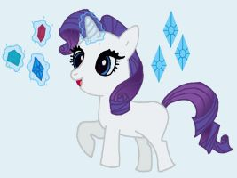 Rarity filly by Hiddenwithinthunder