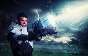 Lucian The Purifier: Piercing Light by Winged-Mouz