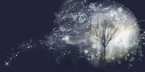 BLUE TREE PREMADE BACKGROUND by VaL-DeViAnT