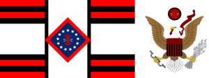 Falangist American Flag and CoA by AmericanSFR