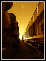 Train in the night  - HDR by kolia22