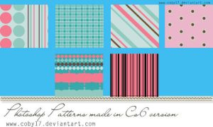 Pink and Blue Photoshop Pattern by Coby17