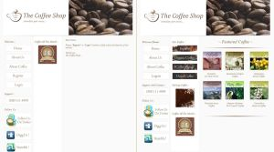 Web Layout - Coffee Shop by paradoxparty